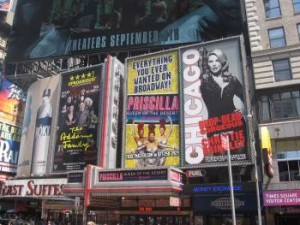 Broadway-Musicals am Times Square